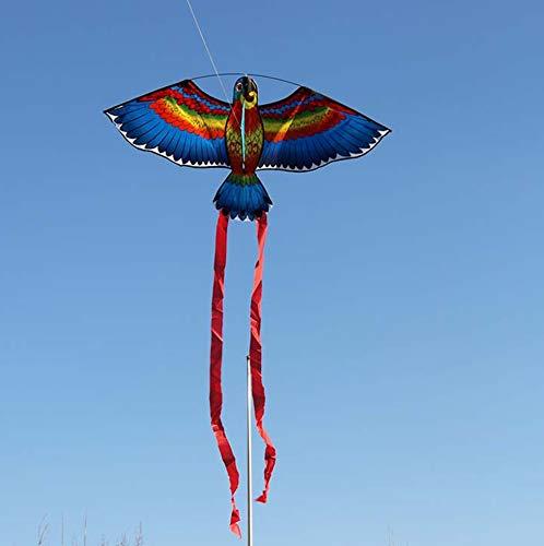LANDUM Drachen für Kinder, Papagei Drachen Vogel Drachen Outdoor Drachen fliegen Spielzeug Drachen für Kinder Kinder - Farbe zufällig