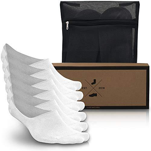 Noviet Damen & Herren Unsichtbare Sneaker Socken Ideale Sommer Socken, Kein Geruch, Kein Verutschen (6x Paar) KOSTENLOSEN Wäschebeutel (Socken Footie Slipper)