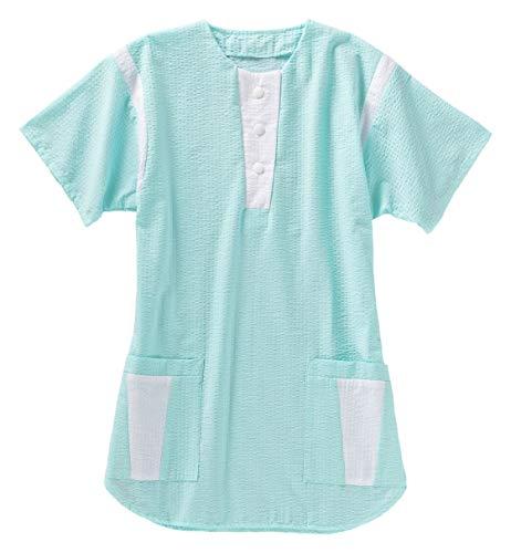 Damen-Schlupfkasack, Farben BEB:Mint/weiß, Größen BEB:XL Damen Seersucker