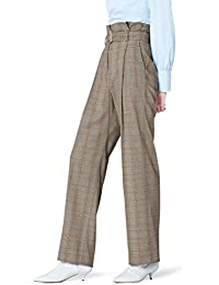 FIND Pantalon Taille Haute à Carreaux Femme