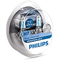 Philips 12972WVUSM WhiteVision Ultra Xenon Effect H7 Headlight Bulb, 4.200K, Twin Pack, Set of 2
