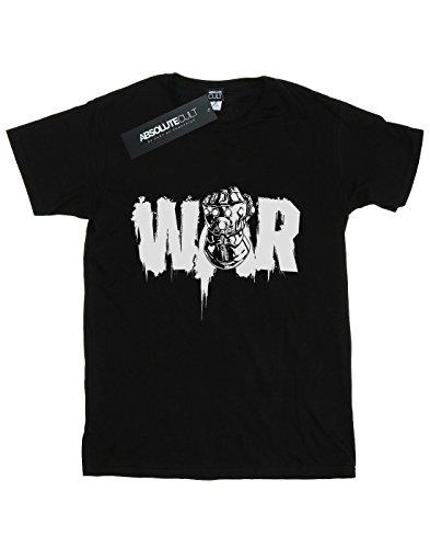 Absolute Cult Avengers Femme Infinity War Fist Petit Ami Fit T-Shirt Noir