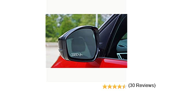 Autodomy Confezione Adesivi Audi S Line 6 Pezzi in Vinile per specchietti Auto