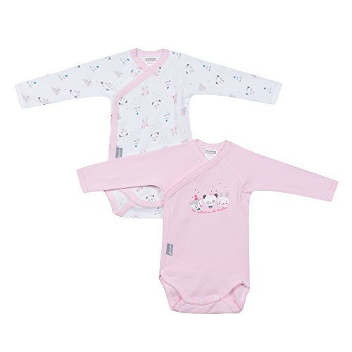 Absorba Underwear Body Bébé Fille, Blanc (DRAGEE 32), 50 cm (Taille Fabricant: NAI)
