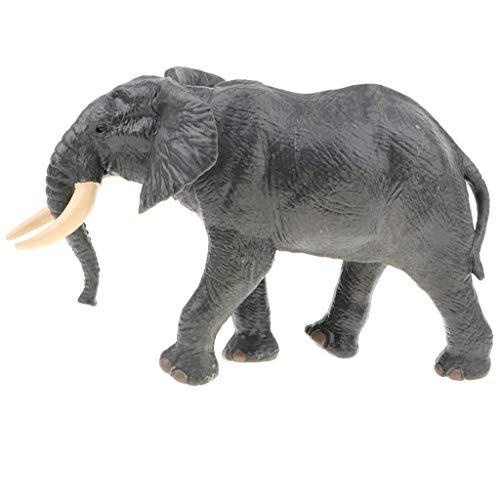 B Blesiya Juguete de Animales de Simulación Plástico Juego Educativo Cognitivo para Niños - Elefante Africano Gris