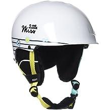 Roxy Happy País Little Miss Snowboard/casco de esquí, Otoño-invierno, mujer, color Blanco brillante, tamaño 56