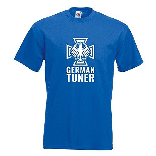 KIWISTAR - German Tuner - Eisernes Kreuz T-Shirt in 15 verschiedenen Farben - Herren Funshirt bedruckt Design Sprüche Spruch Motive Oberteil Baumwolle Print Größe S M L XL XXL Royal