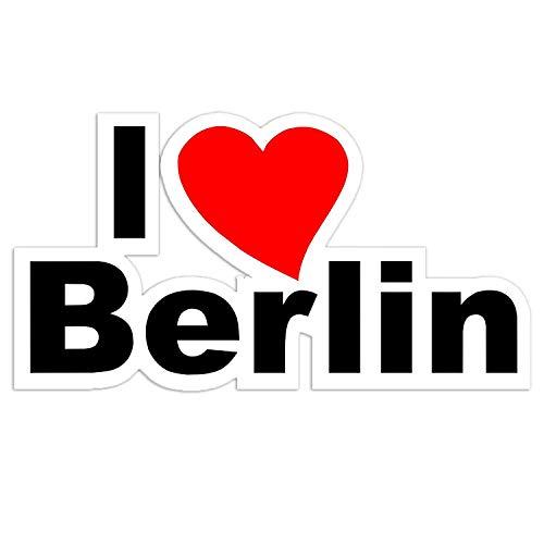 easydruck24de 1 Sticker I Love Berlin I kfz_188 I 16,5 x 9 cm groß I wetterfest I Auto-Aufkleber Roller Motorrad Laptop Geschenk-Idee Heimat-Liebe