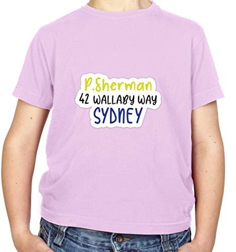 P.Sherman 42 Wallaby Way Kinder Fun T-Shirt - Hellrosa - XS (3-4 Jahre) (Findet Nemo Shirt Kleinkind)