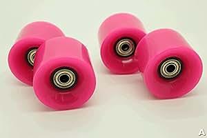 Penny Skateboard Roues 59mm 78a style lisse, avec roulement Rétro style parfait pour plastique Cruiser (le rose)