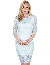 KRISP® Femmes Robe Crayon en Dentelle à Fleurs Collection Maternité
