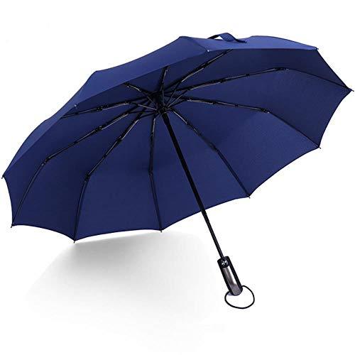 LIKEZZ Winddicht Folding Automatikschirm Regen Frauen Auto Luxus Große Winddicht Regenschirme Regen Für Männer Schwarz Beschichtung Sonnenschirm, Blau