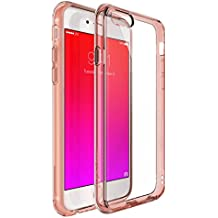 Ringke [Fusion]iPhone 6S/6 Case - Ringke FUSION Clear PC Back TPU Bumper [Crystal Clear] Attached Dust Caps with Screen Protector-parent, Rose Gold Crystal, mediano