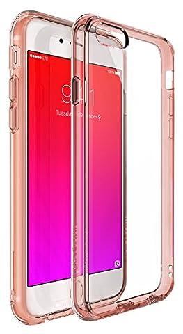Ringke [Fusion] iPhone 6S/6Coque–Ringke Fusion Effacer PC Retour TPU Bumper [Cristal Clair] Attaché la poussière caches avec écran Protector-parent, Rose Gold Crystal, moyen