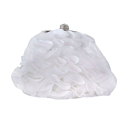 MNBS Damen Frauen Abendtasche Clutch adelig voller Blumenblätter Handtasche Schnallverschluss Handgelenktasche Unterarmtasche auffällig fein edel