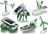 FRE Kinder Kinder 6-in-1 Pädagogische Solar Energy Roboter-Spielzeug Transformers
