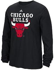 "Chicago Bulls Adidas NBA ""Cut The Net"" Premium Print L/S Men's T-Shirt Chemise"