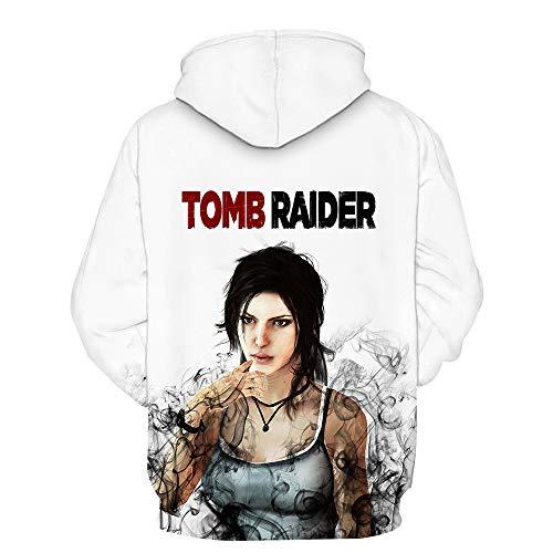 ck Hoodie Kapuzenpullover Langarm Sweatshirt Kapuzenjacke Mit Tunnelzug Pullover Taschen Top Shirt Weihnachten Herbst Rise of The Tomb Raider L ()