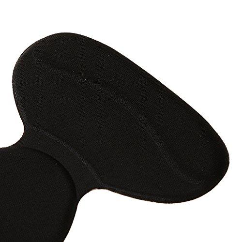 Gazechimp 1 Paar T-Form Absatzschuhe Einlegesohlen, Selbstklebend Pads, Komfort und Schmerzenreduzierung Schuheinlagen Schwarz