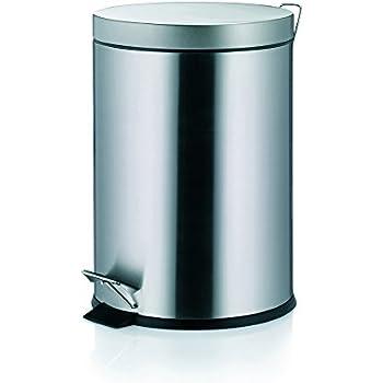 Kela 18172 poubelle de salle de bain à pédale, 3 litres, acier inoxydable mat, 'Torre'
