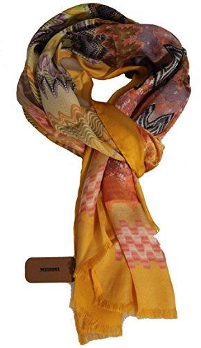 Missoni Seidentuch orange/rot/violett, 100% Seide, 70 x 180 cm (Missoni Damen Accessoires Schals)