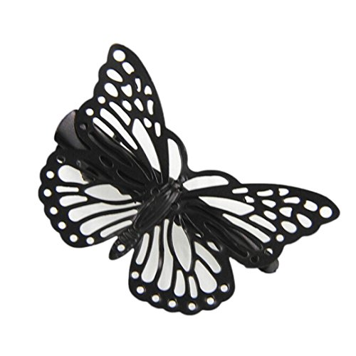 Damen Haarspange FORH Haarnadeln DIY Braut Hochzeit Haarschmuck Golden Butterfly Hochzeit Kopfschmuck Chic Haar Zubehör Stirnband Haarklammern (Schwarz) -