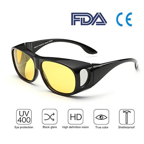 0c23c306fb Best Night Driving Over anteojos de sol - para hombres y mujeres/Wrap  Around Prescription