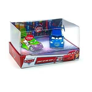 Disney Pixar Cars - Ensemble lumineux Wingo et DJ - Véhicule Miniature - Voiture