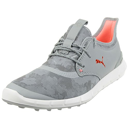Puma Ignite Spikeless Sport Floral Damen Golfschuhe Frauen Schuhe grau orange Größe 39
