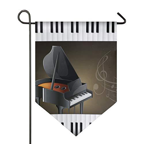 it Tastaturen, Musiknoten, Gartenflagge, doppelseitig, Polyester, Hofflagge für Zuhause, Haus, Außendekoration, 30,5 x 45,7 cm, Polyester, Multi, 28x40 Inch ()