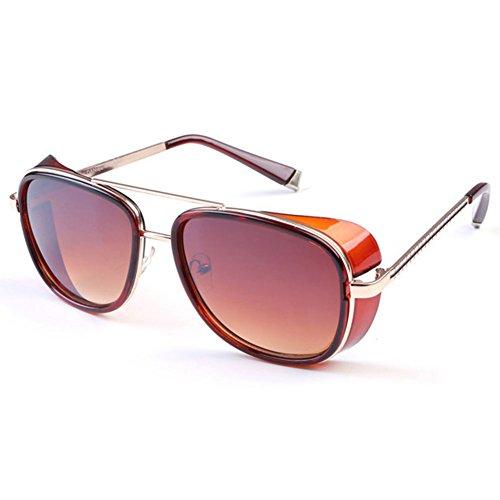 Deylay Steampunk Sonnenbrille Manner Frauen Gespiegelte Brillen Vintage Sonnenbrillen Farbe 2