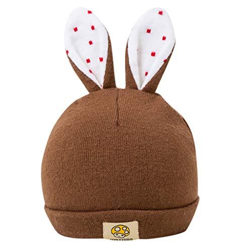 Mitlfuny Unisex Baby Kinder Jungen Zubehör Säuglingspflege,Kleinkind Baby Kinder Winter Cartoon Kaninchen Ohr Hut Baby Warm halten Strickmütze