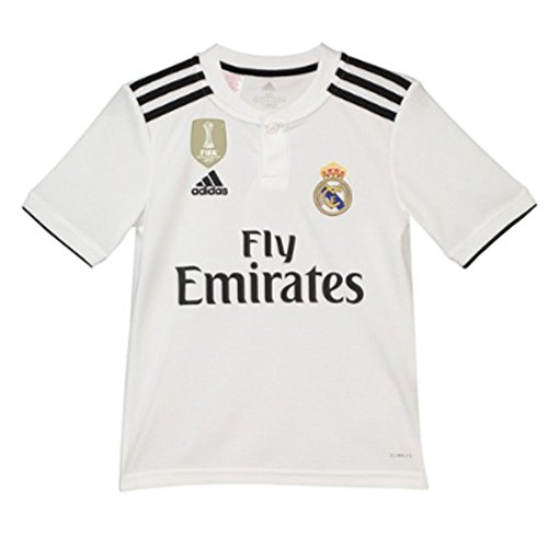 adidas Performance Kinder Trikot Real Madrid Home Jersey Saison 2018/2019 Weiss (100) 176 (Madrid Jersey Youth Home Real)