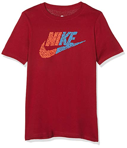 Nike Jungen Half Futura T-Shirt, Rot (Red Crush/Bright Crimson/618), Gr. L