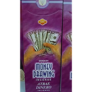 Qaromas Räucherstäbchen Sac Atra Dinero - Money Drawing 6 x 20sticks