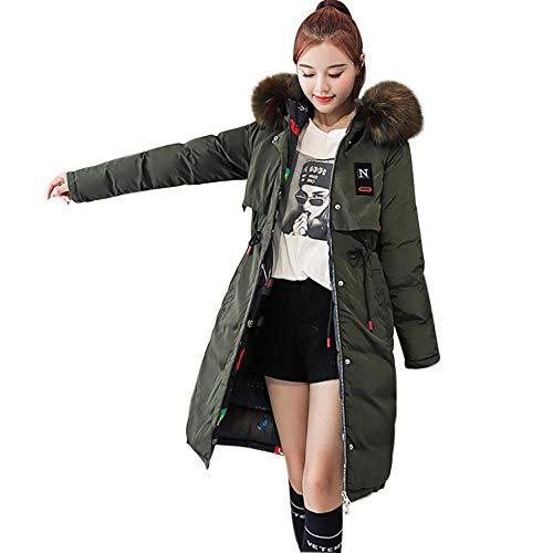 GHEMD Ghemdilmn Dicker Winterjacke Damen Hooded Daunenjacke,Outwear Overcoat Frauen Winter Warmer Mantel mit Kapuze starker Warmer dünner Langer Jacken Mantel