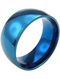 KONOV Schmuck Herren-Ring, Damen-Ring, Edelstahl, 10mm, Blau