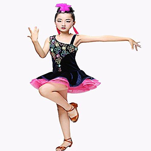 leidung Mädchen Performance Praxis Ärmelloses Halfter Natural Tanz Röcke,Red,160 (Red Tutu Kostüm Idee)