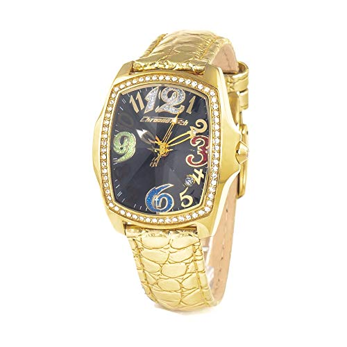 Chronotech orologio analogico al quarzo donna con cinturino in pelle ct.7896ls/69