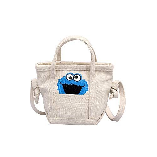 HCFKJ Tasche, Frauen-Segeltuchbeutelflut wilde Stoffbeutel beiläufige Schulter-Segeltuchhandtasche (WH)