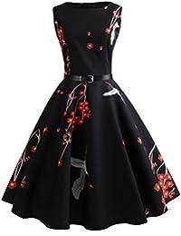 Neun Vintage Kleid, Yesmile 1950er Jahre Kleider Damen Schwarz Kappen Hülse  Retro Vintage Sommerkleid Sexy Party Elegante Kleider… 860406320e