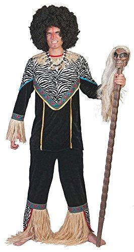 Gruppe Funny Kostüm - Pierro´s Kostüm Afrikaner Kimoni Herrenkostüm Größe 52-54