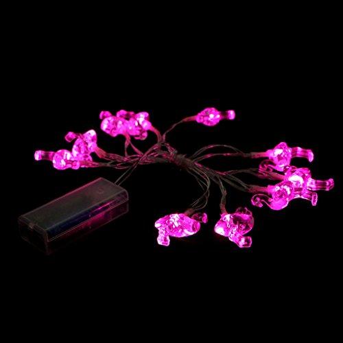 ten Flamingo Form Lampionkette String Licht Lampe für Dekor Garten Haus Weihnachten Hochzeit (Weihnachten Garten Dekor)