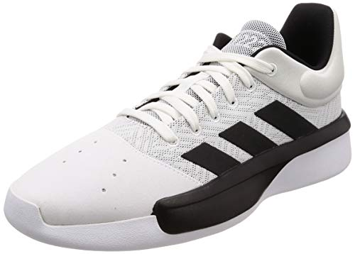 adidas Herren Pro Adversary Low 2019 Basketballschuhe, Weiß (Ftwr White/Core Black/Grey Four F17), 43 1/3 EU -