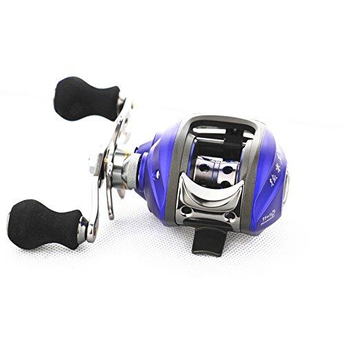 EverTrust (TM) UK 11+ 1BB 6.3: 1Sinistra mano Bait Casting Mulinello per pesca alla carpa 11+ 1Ball cuscinetti + One-way frizione ad alta velocità Blu