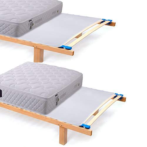 Woltu mts02ws02-2 coprimaterassi traspiranti igienici protezioni per materassi tappetini comfort in poliestere 100x200cm