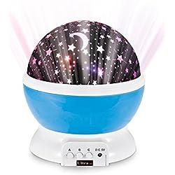 Ultra® cielo azul de estrellas proyector lámpara luz de la noche para los niños dormitorios bebés niños