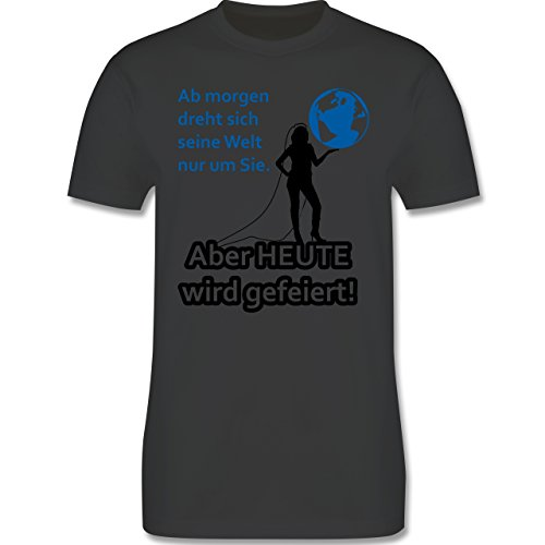 JGA Junggesellenabschied - Aber Heute wird gefeiert - Herren Premium T-Shirt Dunkelgrau