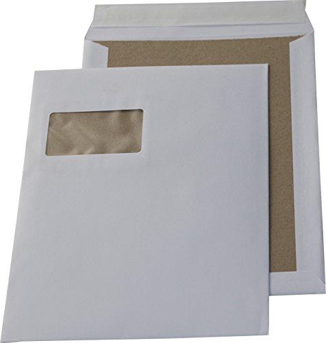 500 St. C4 Papprückwand Versandtaschen weiß mit Fenster 120 gr. Kuvert Haftklebend Briefumschläge HK Briefhüllen