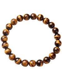 b00c8deac3db SUNNYCLUE Natural genuino piedras preciosas pulsera elástica cuentas  redondas de 8 mm de alrededor de 7